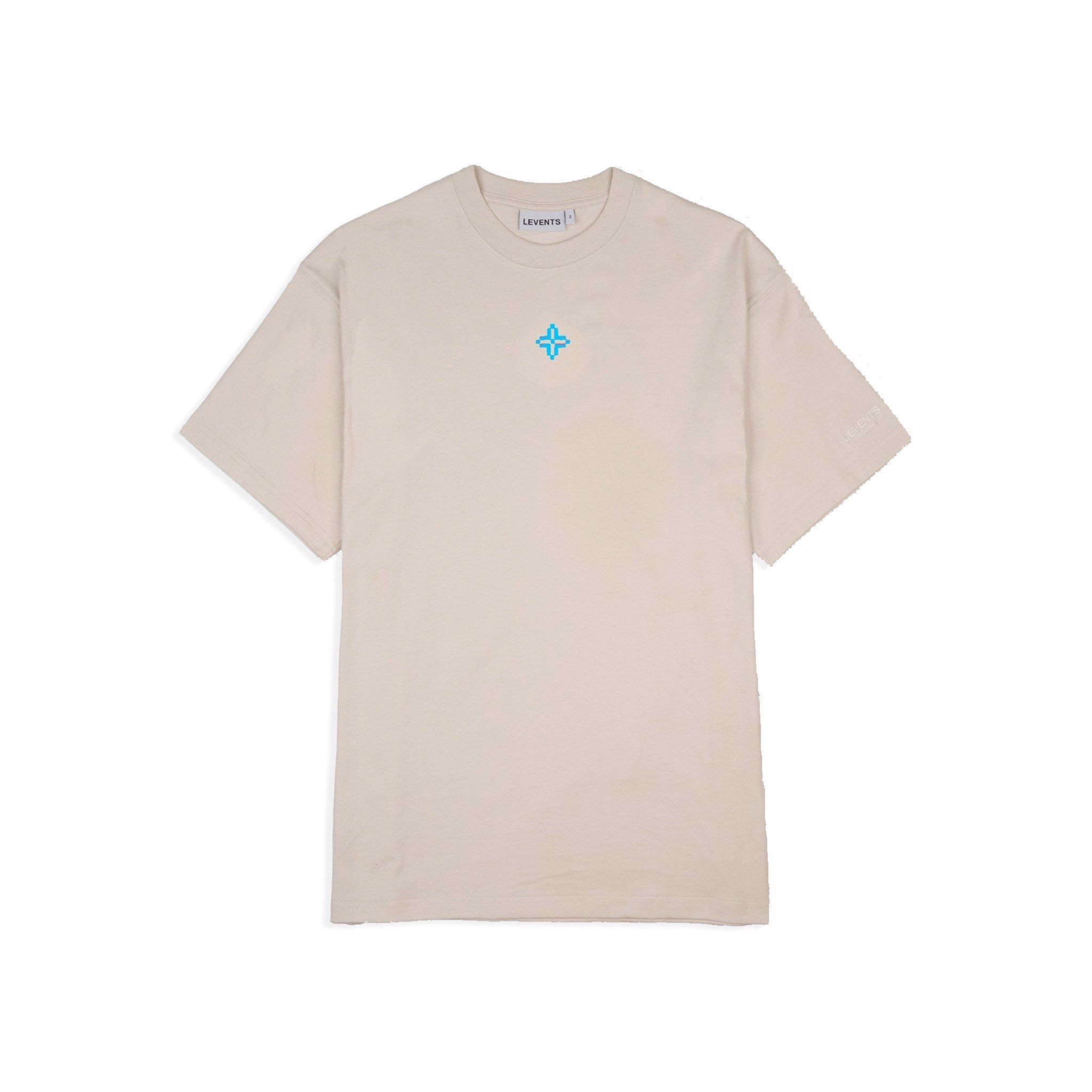 LVS XL LOGO TEE - BROWN/BLUE