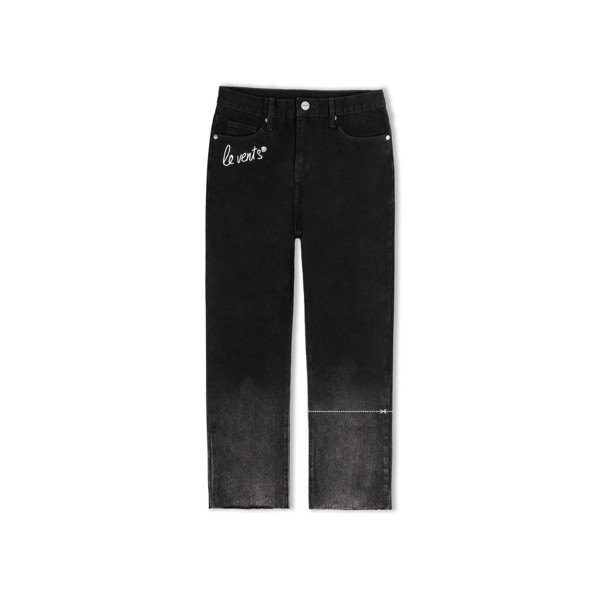 + LVS Faded Straight Jeans  Black