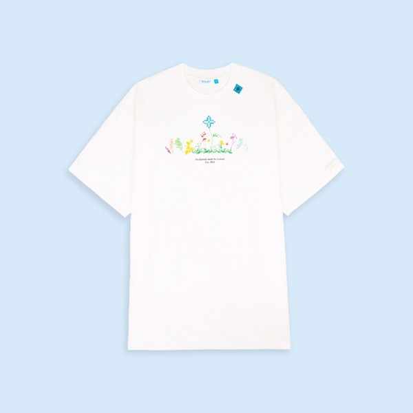 +LVS FLORAL 0.5 TEE/ WHITE