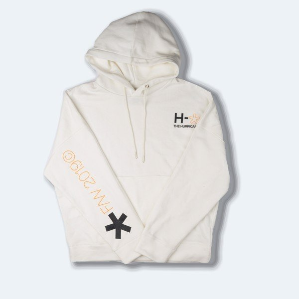 H.R.C* ON THE WALL OVERSIZED HOODIE LOGO WHITE 4.1
