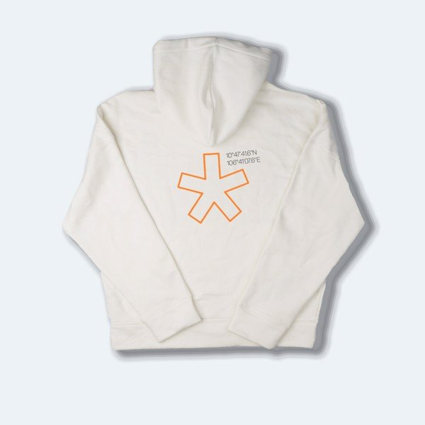 H.R.C* ON THE WALL OVERSIZED HOODIE LOGO WHITE 4.2