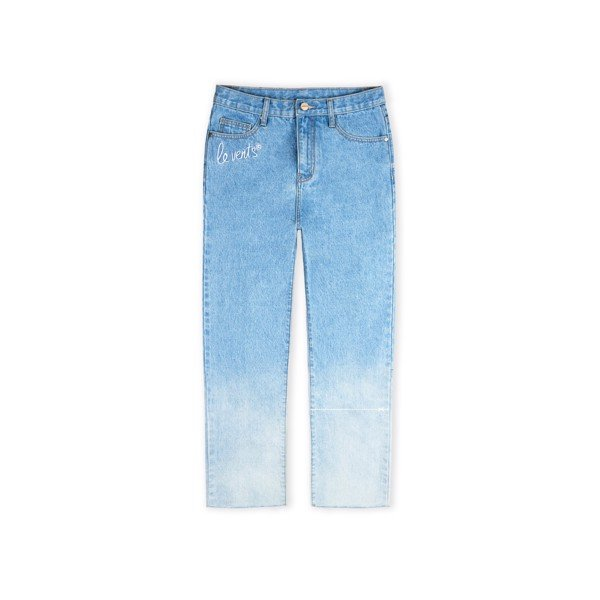 + LVS Faded Straight Jeans Blue