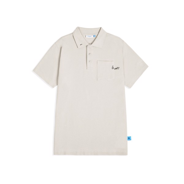 LEVENTS®  DROP SHOULDER SS POLO SHIRT/GREY