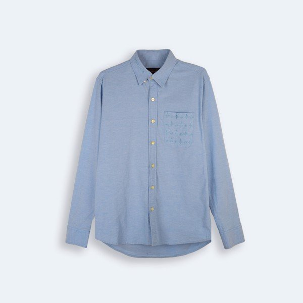 *MOGO POCKET OXFORD SHIRT BLUE