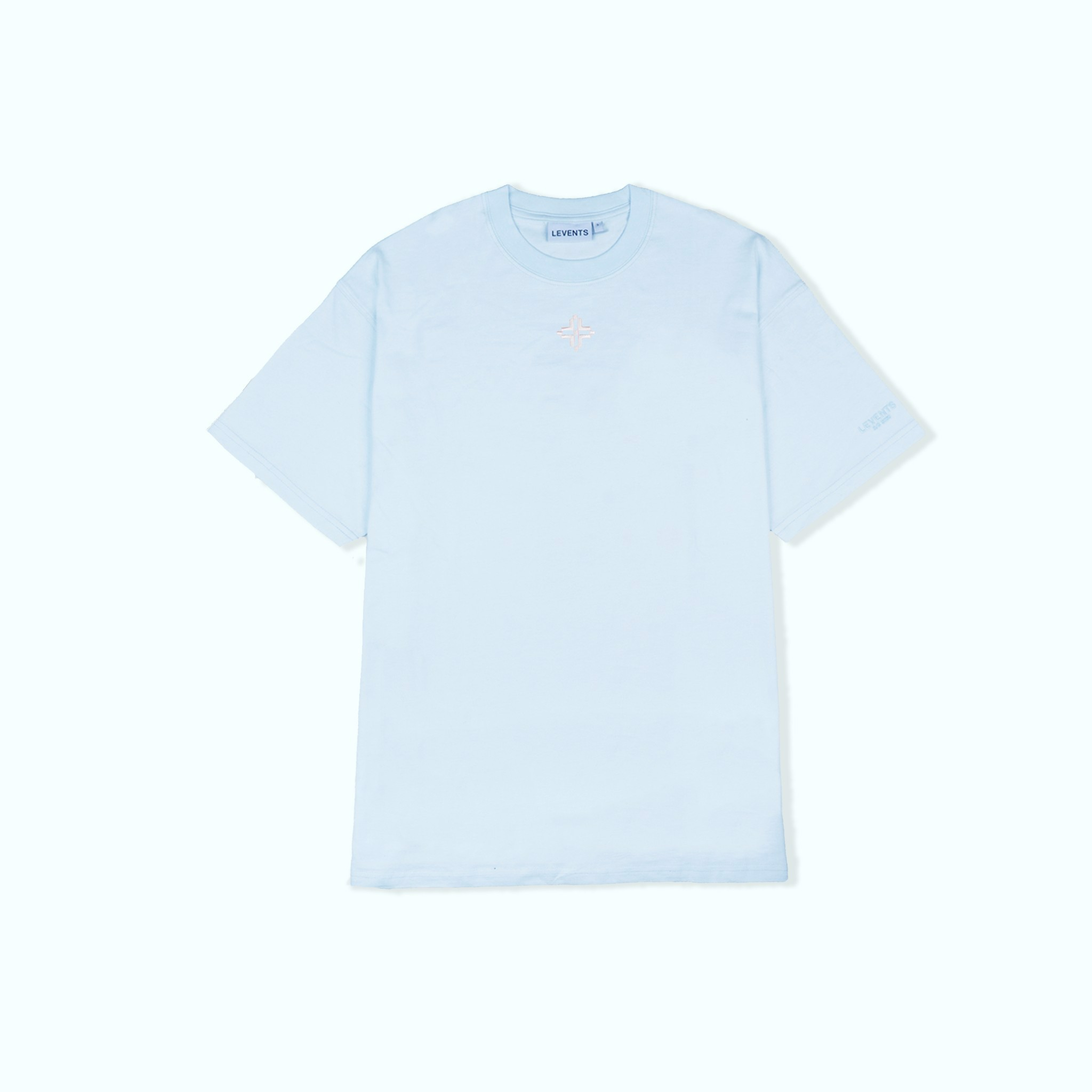 +LVS XL LOGO TEE SHIRT BABY BLUE +WHITE