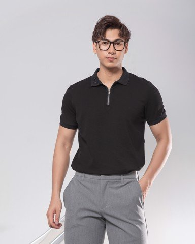 Zipper Polo Tees 19264