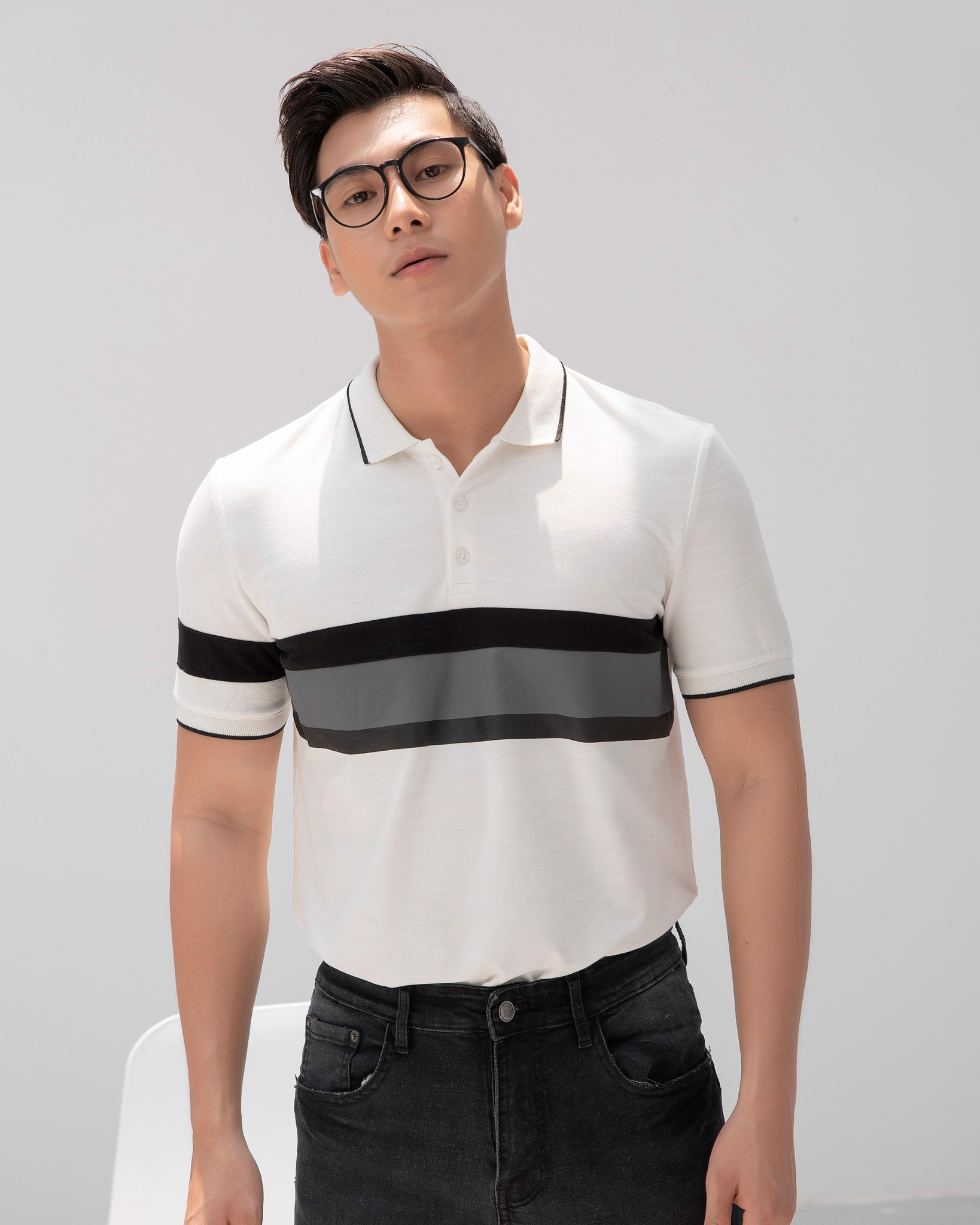 Stripe Polo Tees 195