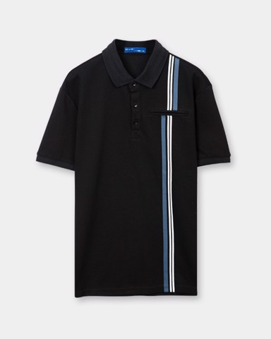 Stripe Polo Tees 21272