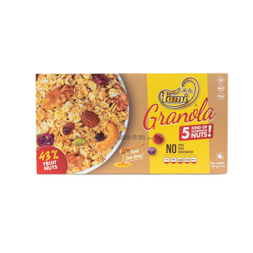 Hạt Dinh Dưỡng Ngũ Cốc Granola FAMINUTS - Hộp Giấy 168g