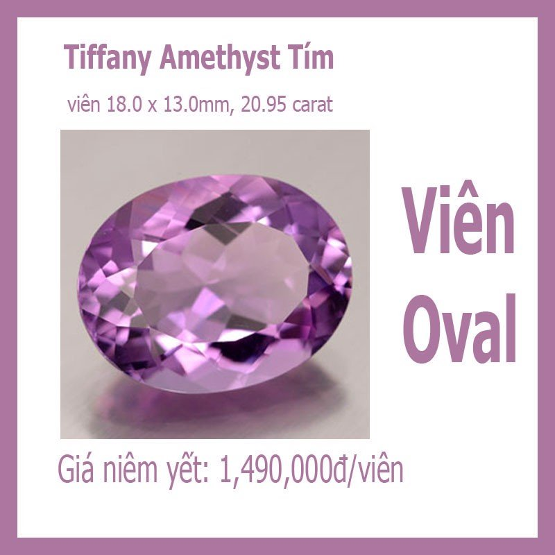 Amethyst - Oval 18x13mm