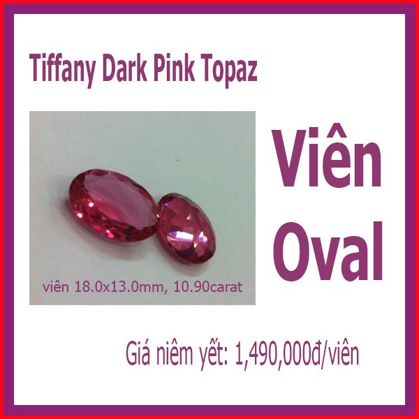 Pink Topaz - Oval 18 x13mm