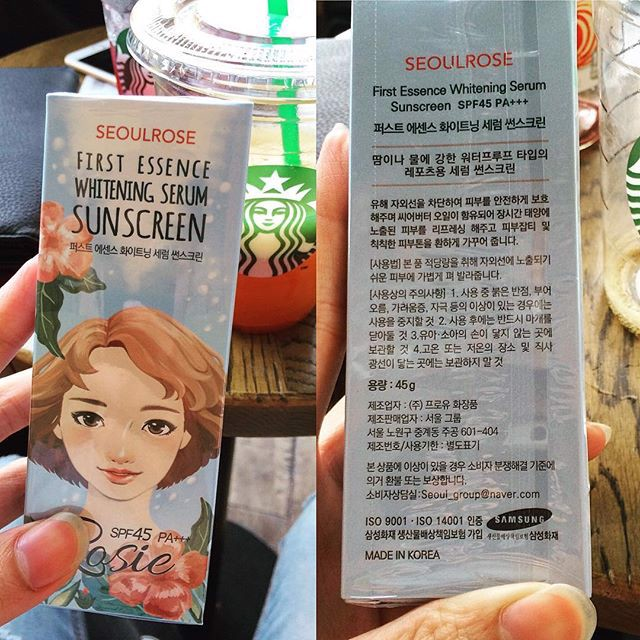 Kem Chống Nắng Seoul Rose Rosie First Essence Whitening Serum Sunscreen SPF45 PA+++