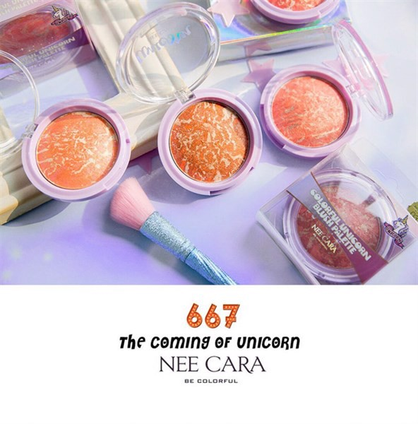 .Phấn Má Hồng Nee Cara Colorful Unicorn Blush Palette N667