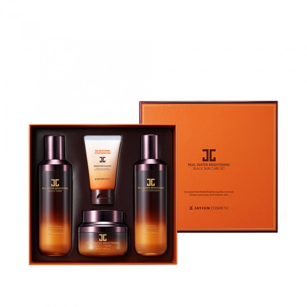 Bộ Sản Phẩm Jayjun Cosmetic Real Water Brightening Black Skin Care Set 2nd