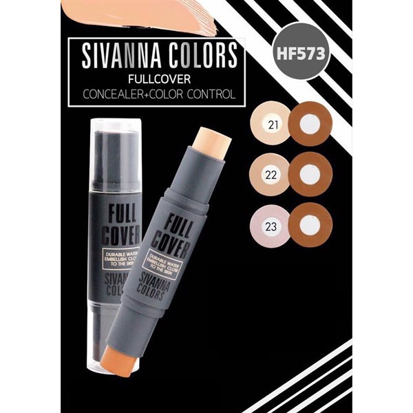 Cây Tạo Khối + Che Khuyết Điểm Sivanna Colors Full Cover Concealer + Color Control HF573