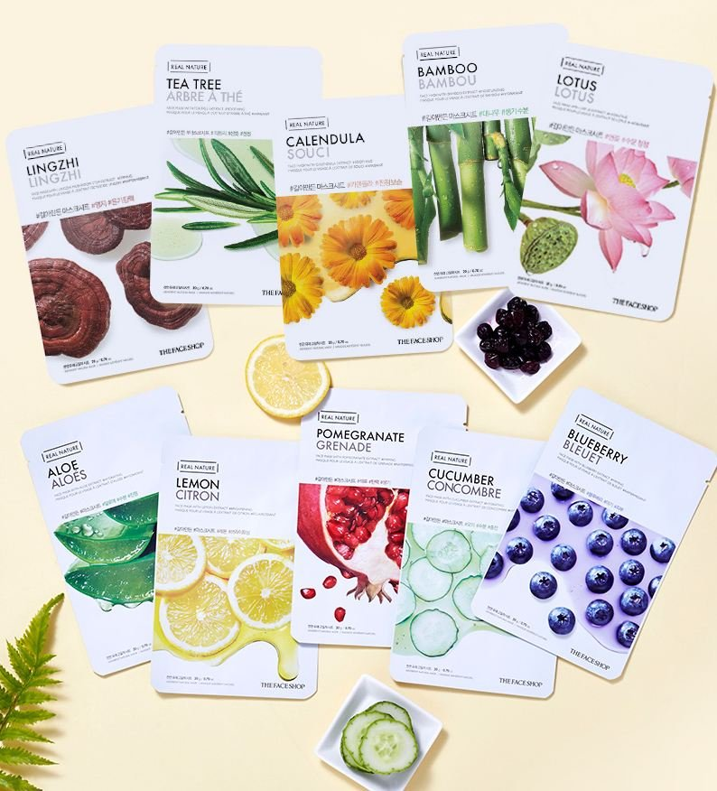 Mặt nạ giấy The face Shop Real Nature Face Mask 2017 1