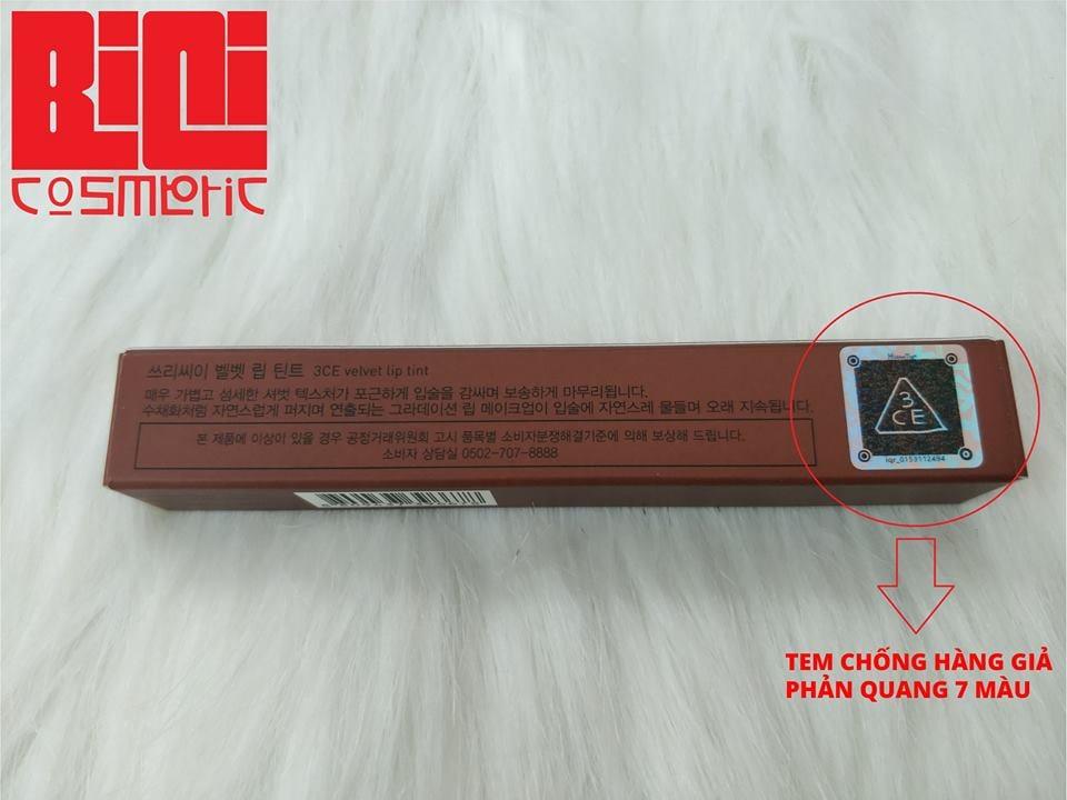 Hidden tag son 3CE Velvet Lip Tint 1
