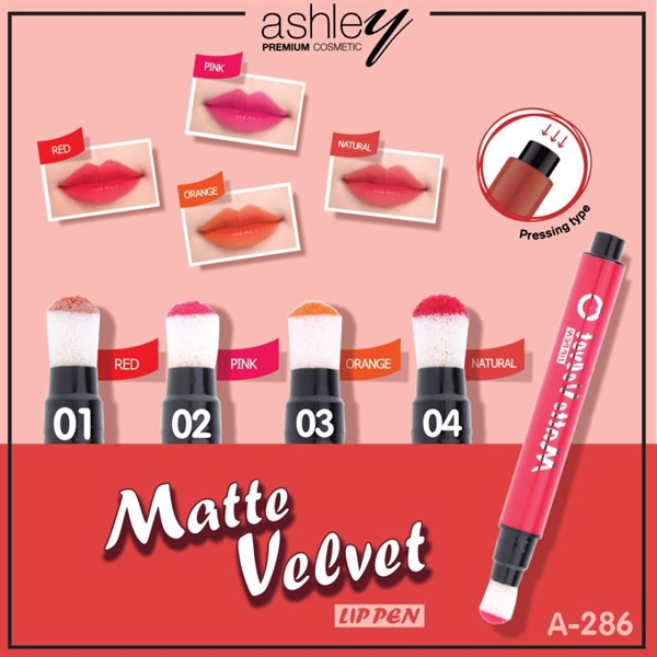 .Son Môi Cushion Ashley Matte Velvet Lip Pen A286