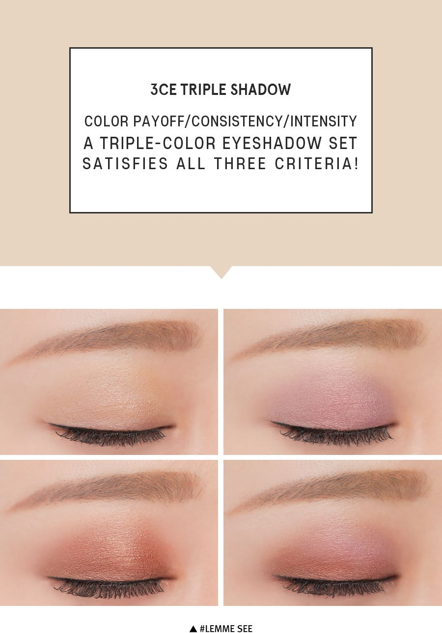Phấn mắt 3CE Triple Shadow- Lemme See- bici cosmetics