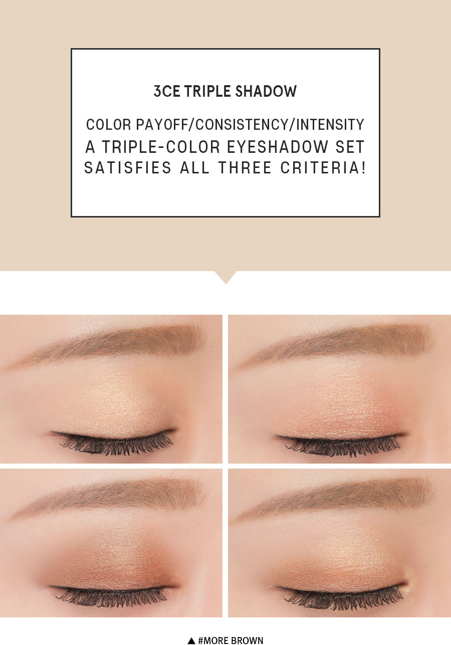 Phấn mắt 3CE Triple Shadow- More Brown- Bici Cosmetics