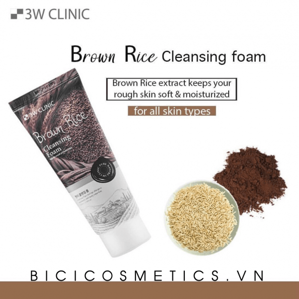 Sữa Rửa Mặt 3W Clinic Cleansing Foam – Brown Rice