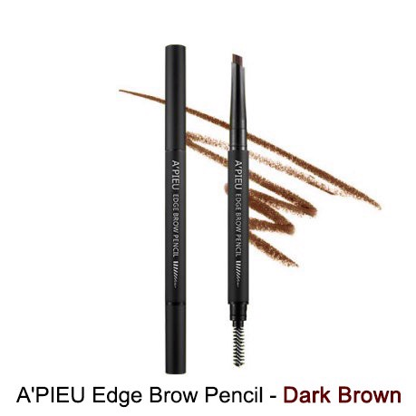 Chì mày A'PIEU Edge Brow Pencil – Dark Brown