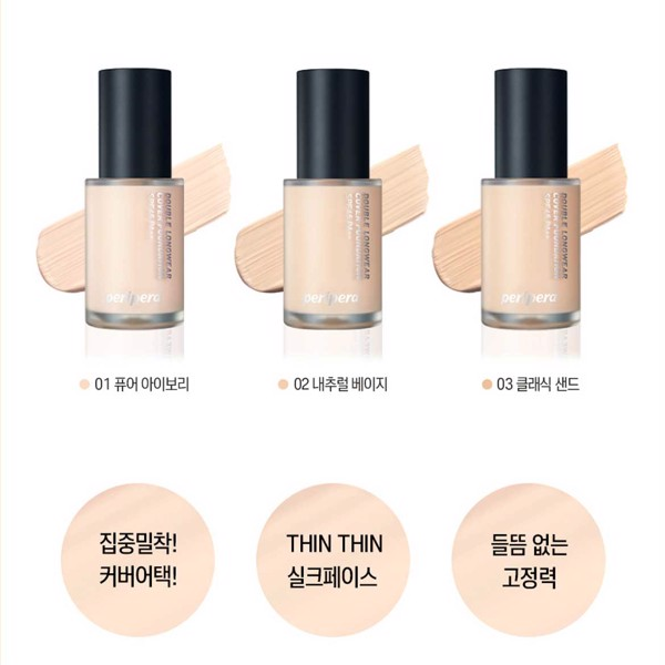 Kem nền PERIPERA Double Longwear Cover Foundation