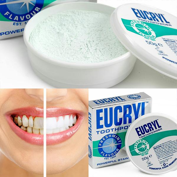 Eucryl Tooth Powder giúp làm trắng răng hiệu quả 1