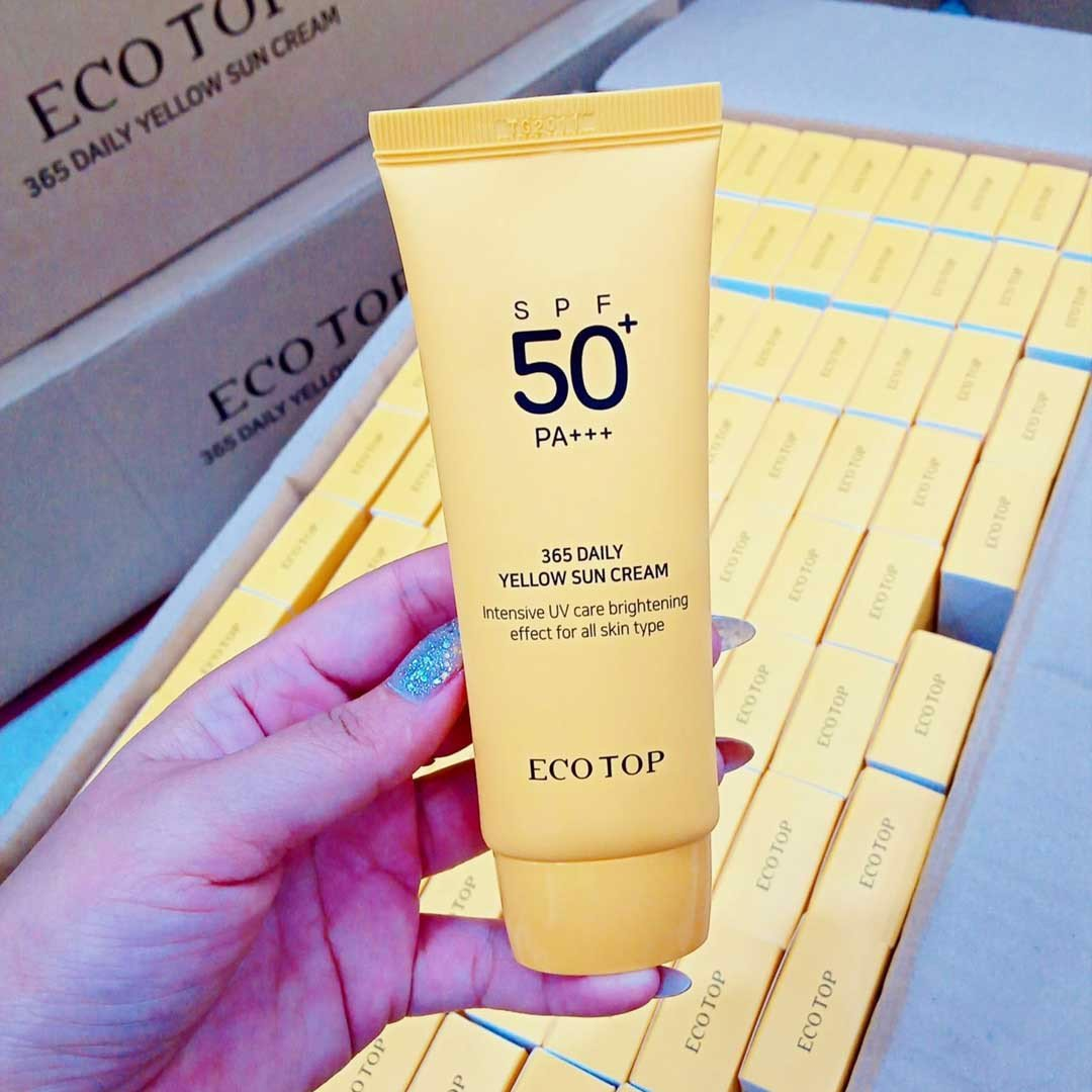 Kem chống nắng Eco Top 365 Daily Yellow Sun Cream SPF 50+ PA+++