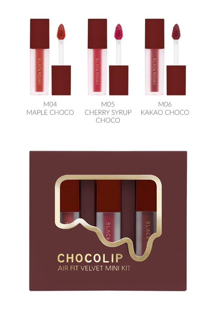 Black Rouge Air Fit Velvet Mini Kit Chocolip 23- Bici Cosmetics