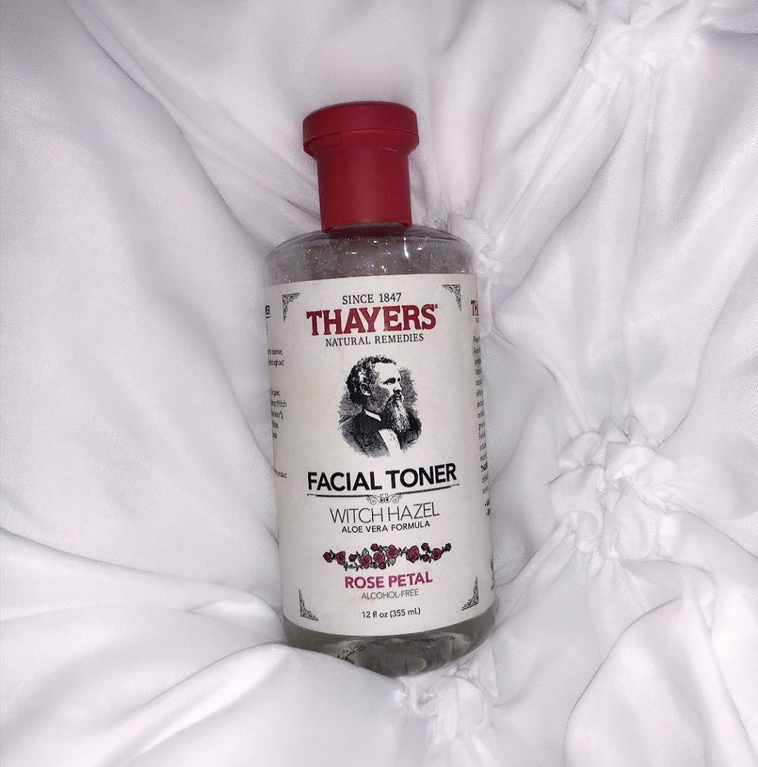 Kết quả hình ảnh cho Nước hoa hồng không cồn Thayer