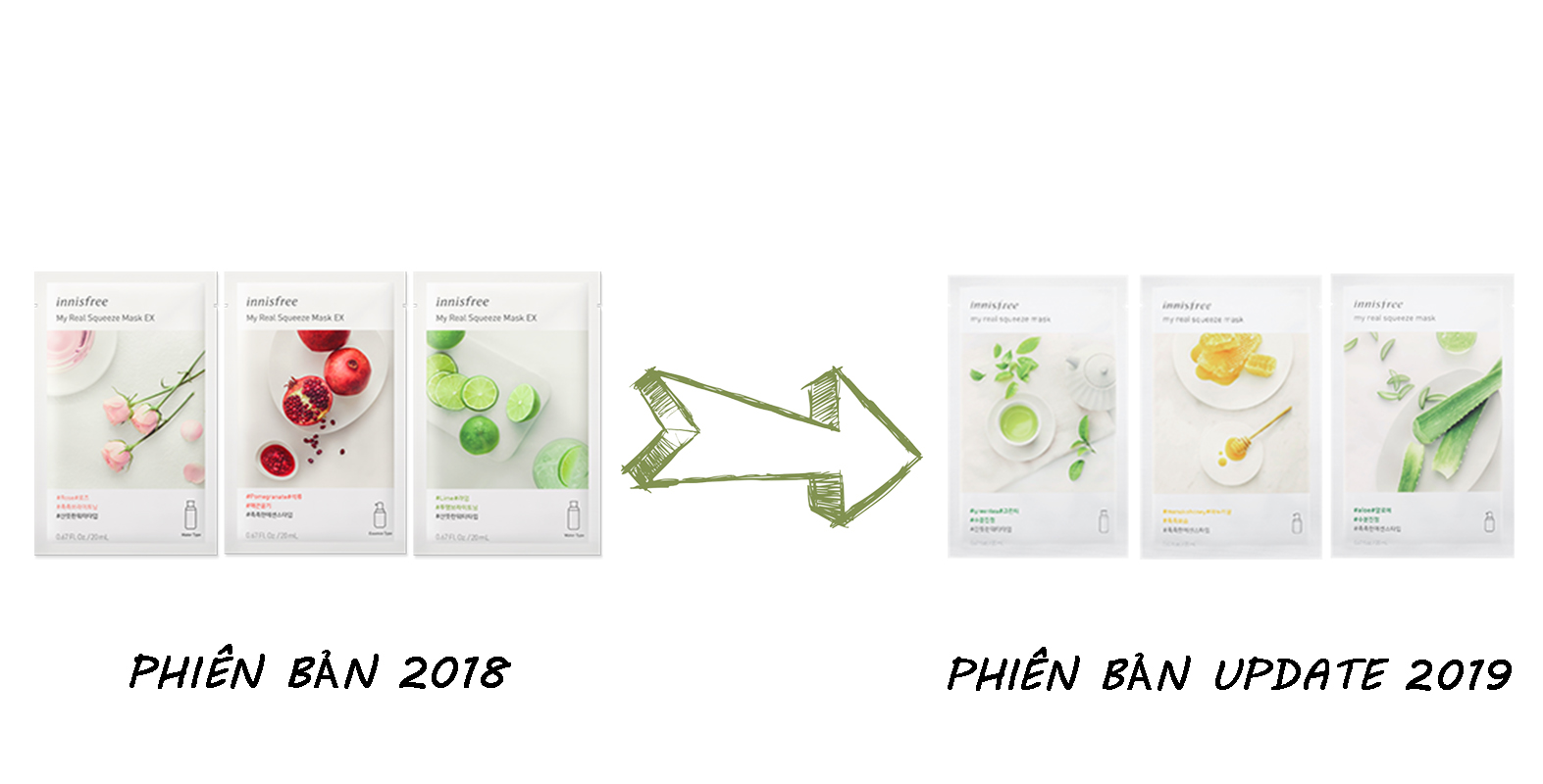 [NEW UPDATE 2019] Mặt Nạ Giấy Innisfree My Real Squeeze Mask EX