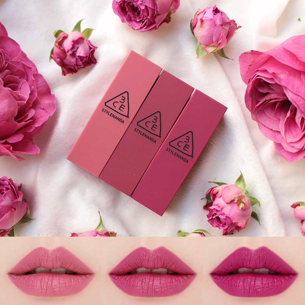 Son 3CE Matte Lip Color Tím