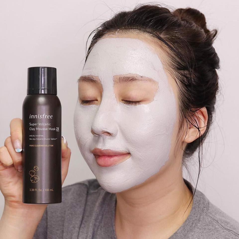 [NEW UPDATE 2019] Mặt Nạ Dạng Xốp Innisfree Super Volcanic Clay Mousse Mask EX 100ml