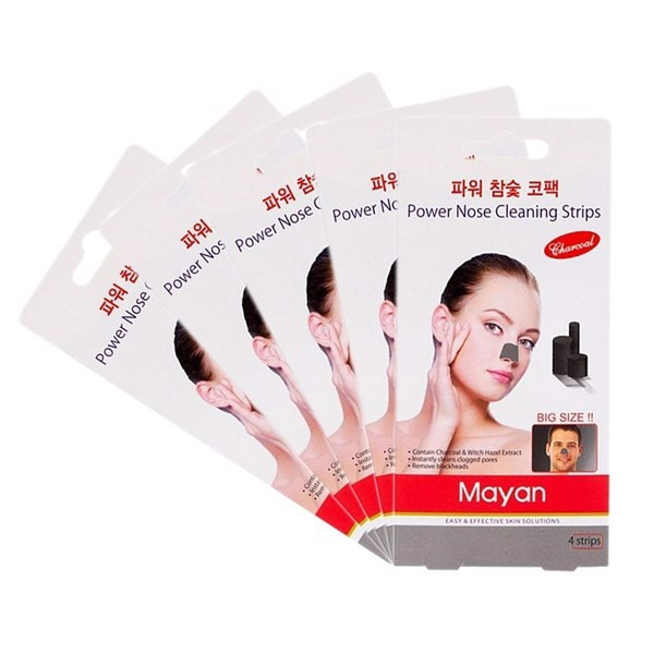 Lột Mụn Cám MAYAN Powder Nose Cleaning 4 Strips