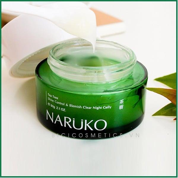 NARUKO Tea Tree Shine Control & Blemish Clear Night Gelly3 - Bici Cosmetics