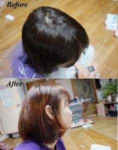 Tẩy đến khi màu tóc sáng như mong muốn thì đi xả - Bici Cosmetics