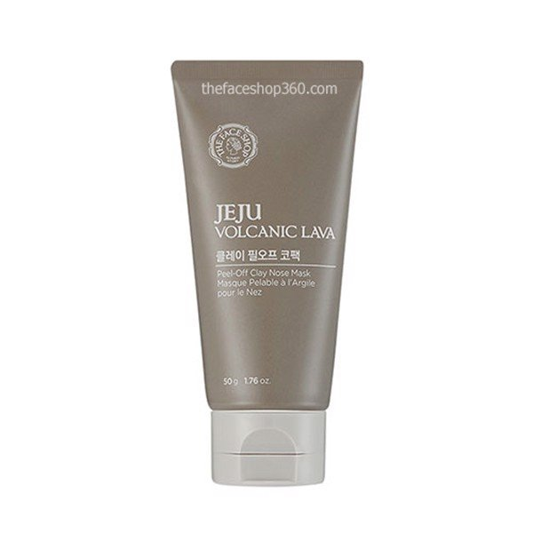 Gel Lột Mụn Jeju Volcanic Lava Peel – off Clay Nose Mask The Face Shop
