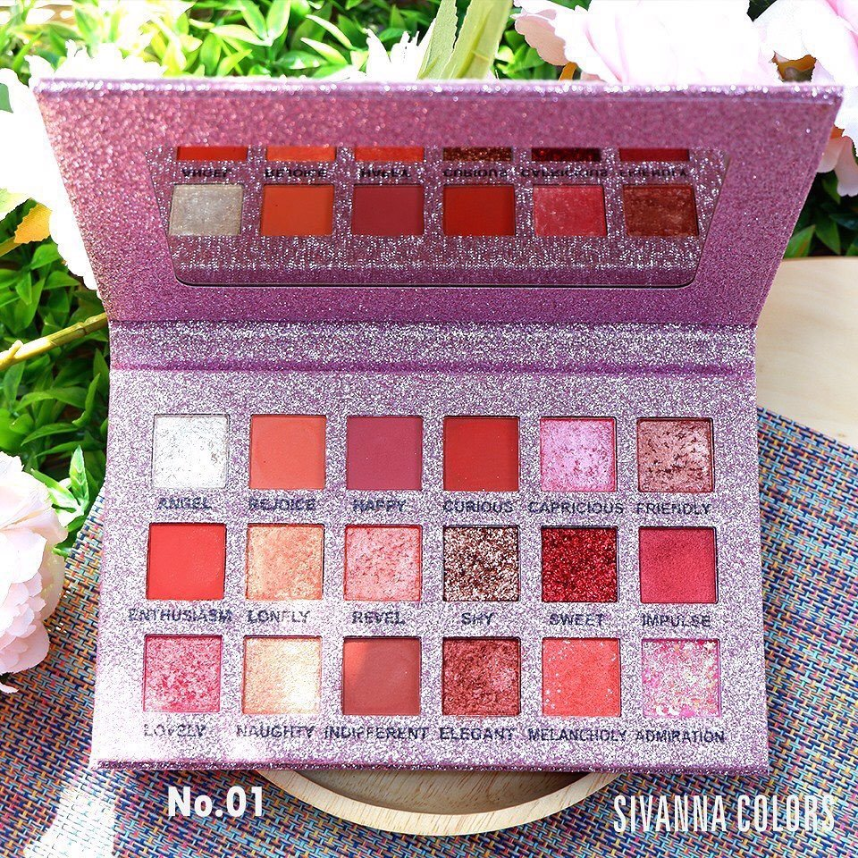 Phấn mắt Sivanna Colors Pretty Galaxy Eyeshadow Palette Peach HF6037