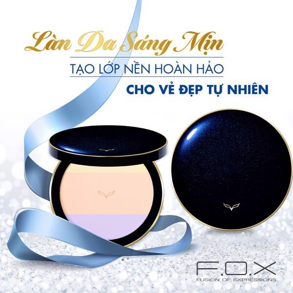Phấn Phủ F.O.X Pressed Powder Tặng Cọ Powder Brush