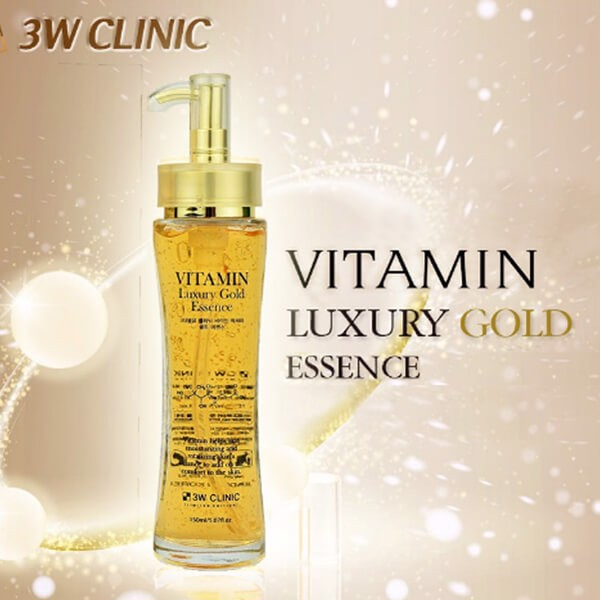 Serum Dưỡng Tái Tạo da 3W Clinic Vitamin Luxury Gold Essence 150ml
