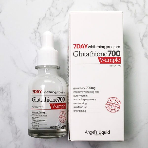 Huyết Thanh Trắng Da Angel's Liquid 7day Whitening Program Glutathione 700 V-ample 30ml