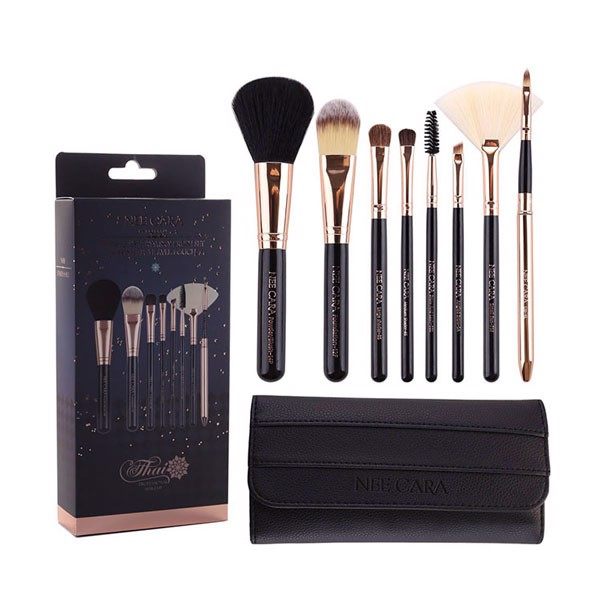 Set Cọ Nee Cara 8 Piêc Starry Sky Brush Set & Leather Travel Pouch N081
