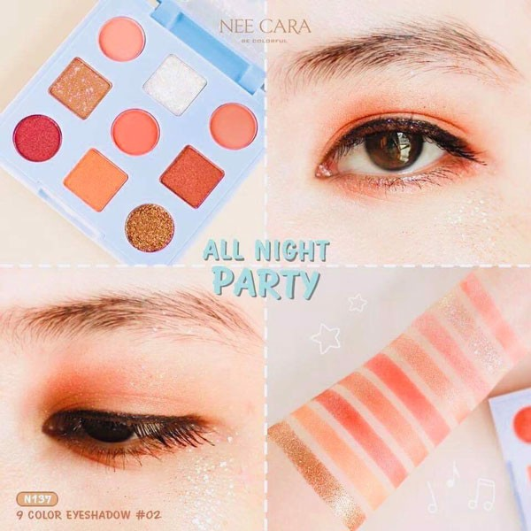 Phấn Mắt Nee Cara All Night Party 9 Color Eyeshadow N137