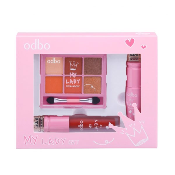 Set Phấn Mắt Mascara Son Odbo My Lady OD1035