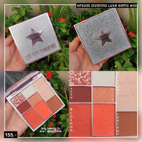 Bộ Kit Sivanna Colors Luxe Gems Makeup Kits HF5035