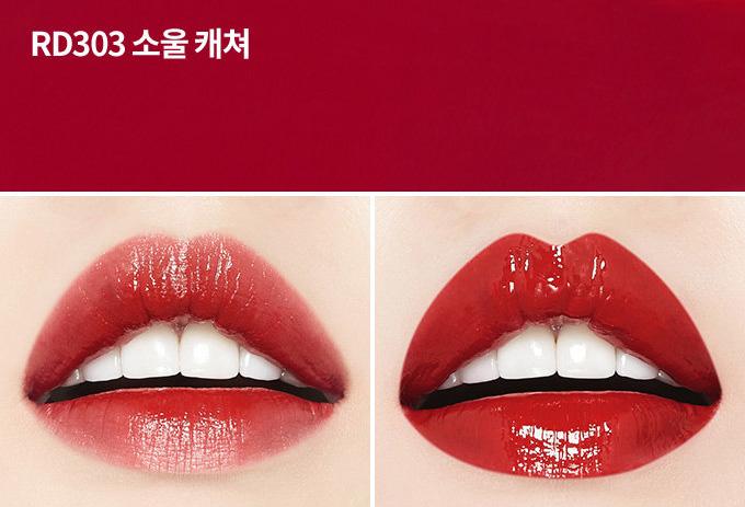 Son kem dạng tint Etude House Shine Chic Lip Lacquer x Red Velvet - bici cosmetics