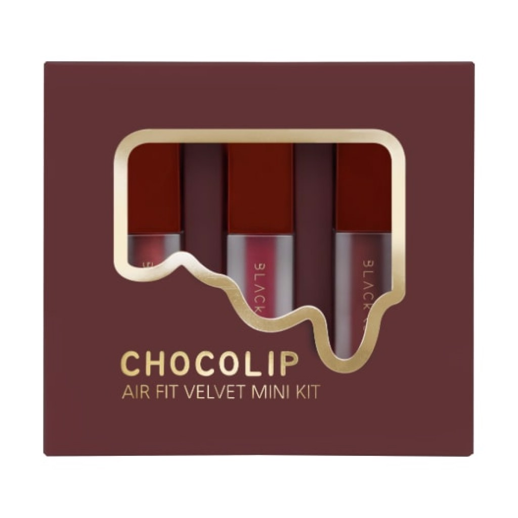 [Valentine Gift] Bộ Son Mini Black Rouge Air Fit Velvet Mini Kit Chocolip