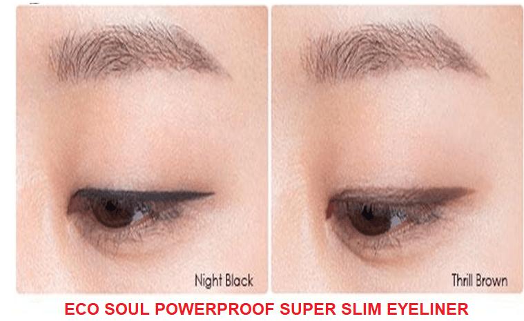 Cách sử dụng Eco Soulpowerproof super slim eyeliner