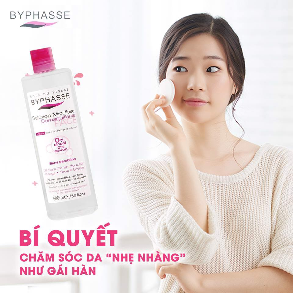 Nước Tẩy Trang Cho Mọi Loại Da Byphasse Solution Micerallaire Face 500ml